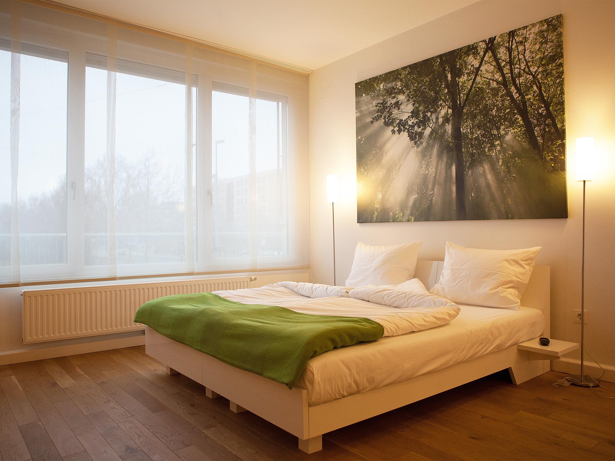 Apartment Erde Wohnraum Bett Detail